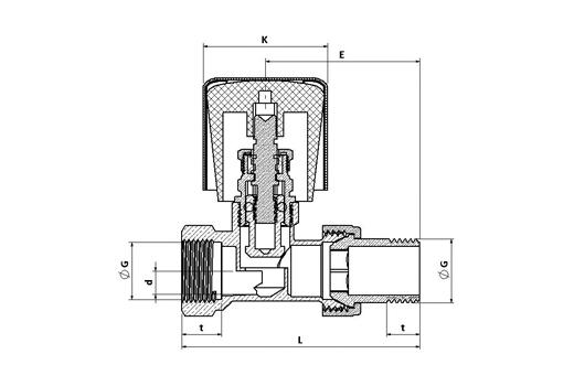 Straight Radiator Valve | Radiator Valves | Valves | Plumbing Group ...